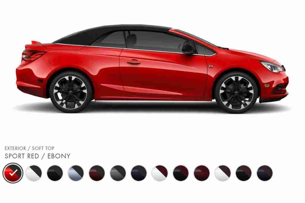 2019 buick cascada convertible colors