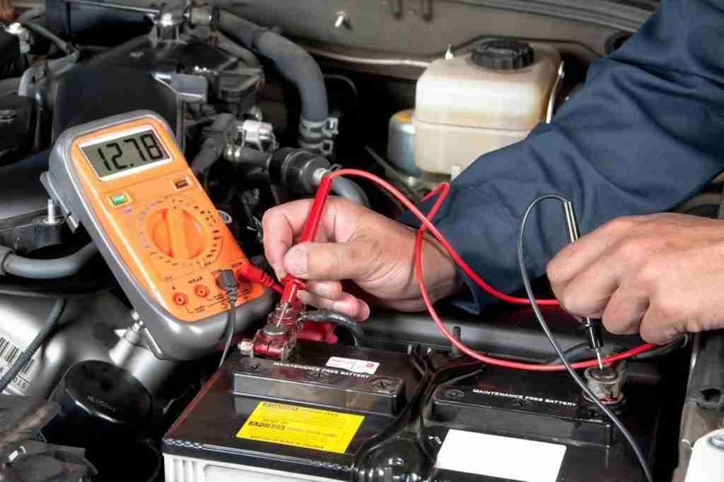 test car battery in winter