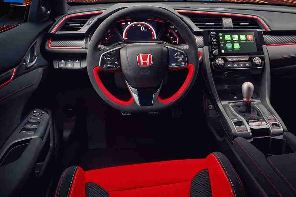 2021 honda civic type r interior